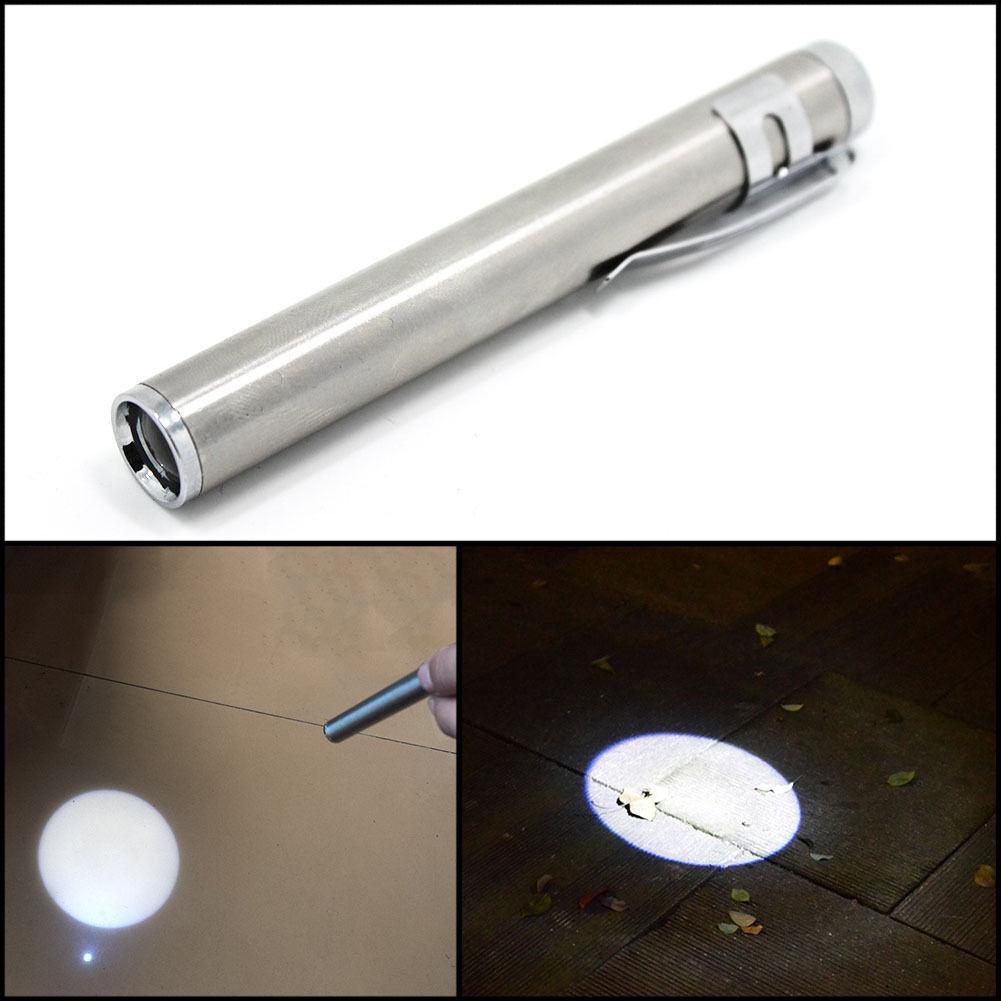Mini Torcia Penna Medical Tascabile Portatile Luce Bianca 1 Led Alluminio hsb