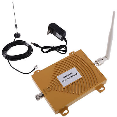 Dual-band Repeater-kit (2G/3G 850/1900MHz Dual Band Cell Phone Signal Booster Amplifier Repeater Kit)