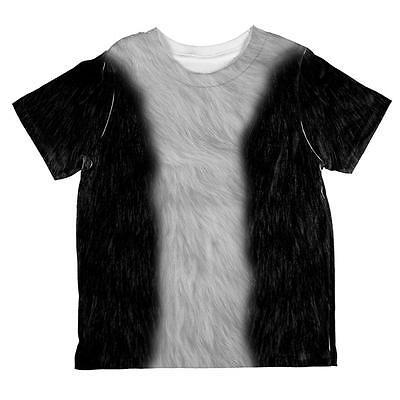 Halloween Tuxedo Black And White Cat Costume All Over Toddler T Shirt - All Black Cat Costume