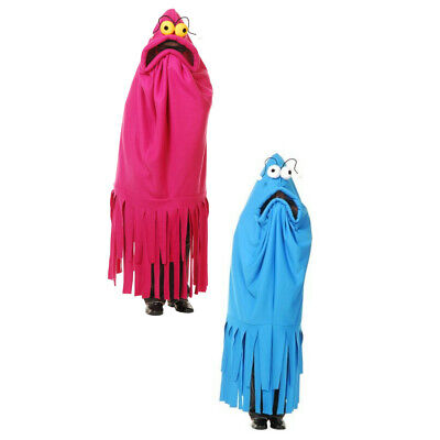 Sesame Street Costumes Adult (Monster Madness Costume (Choose Color) Adult Pink Blue Yip Yips Sesame)