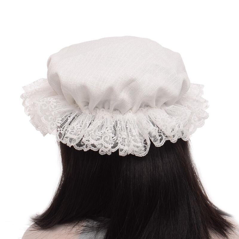 Vintage Maid/'s Mob Cap Retro Civil War Colonial Lace Mob Hat Victorian Edwardian