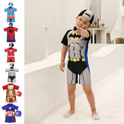 Super Hero Kids Boys Swimsuit Surf Suit Swimming Costume Childrens Swimwear 2-11](Boys Super Hero Costumes)