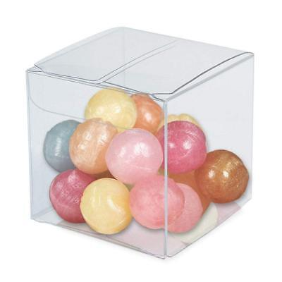 Lot of 50/100/200Pcs Clear PVC Plastic Candy Boxes for Party Favor Gift Cupcakes (Clear Box)