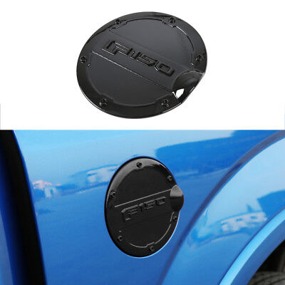 1* Black Fuel Filler Cover Gas Tank Cap Round ABS fit for Ford F-150 2015-2019