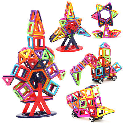 166 Pcs Magnetic Tiles Magnetic Building Blocks Toys for Kids 3 4 5 6 7 8 Years