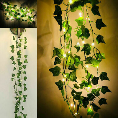 2M 20 LED Leaves Ivy Leaf Fairy String Lights Garden Lamp Party Home Decor Xmas