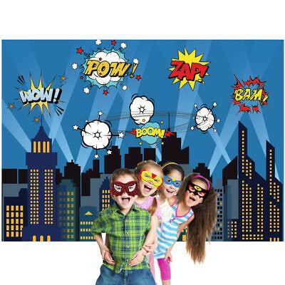5x7ft Superhero City Building Backdrop Photography Background Photo Studio - Superhero City Backdrop