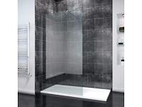 Walk in tall shower panel/screen