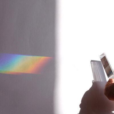 Light Triangle 9cm Teaching Spectrum Prism Triple Optical Physical Glass