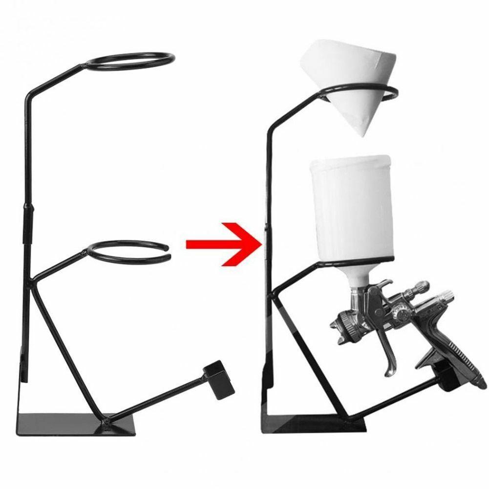 Spray Gun Stand Bracket Paint Holder Sprayer Stand With Strainer Gravity Feed