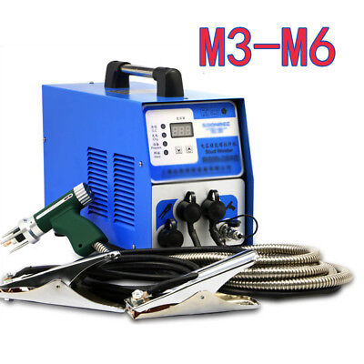 Capacitor Discharge Stud Welder Bolt Plate Welding Machine For M3-m6 Studs 220v