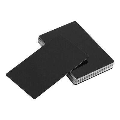 50 Aluminum Business Visiting Card Blanks Laser Metal Sheets Engraving Anodized