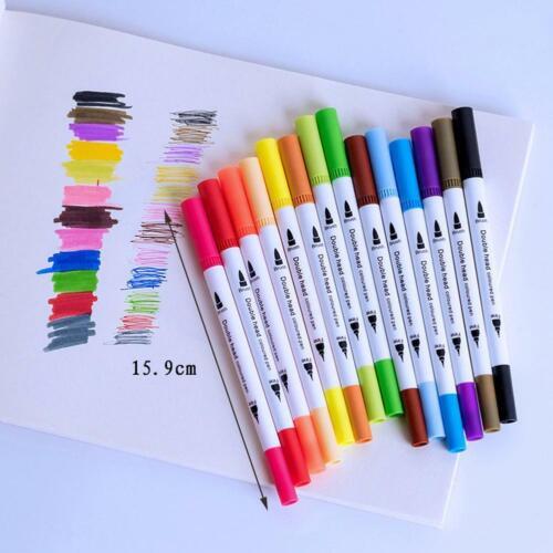 100 Colors Watercolor Brush Pens Set Dual Tips Soft Fine Art