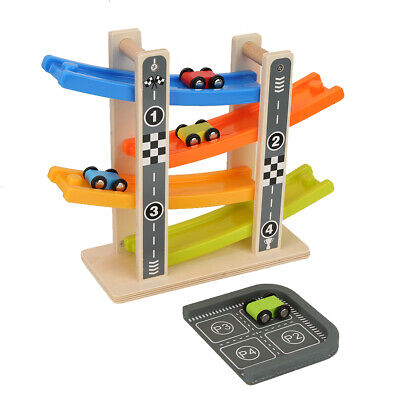 Gifts For 2 Year Old Boy (A Toddler Toys For 1-2 Year Old Boy And Girl Gifts Wooden Race Track Car)