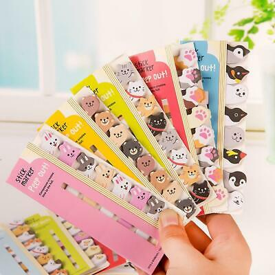 8pcspack Kawaii Stationery Memo Pad Bookmarks Animal Sticky Note School Supply