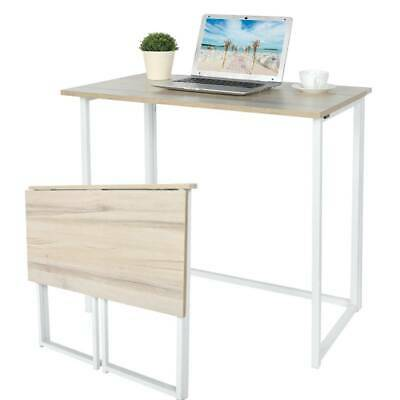 Small Foldable Computer Desk Folding Study Laptop PC Table Home Office Furniture