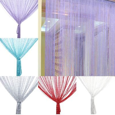 Crystal Bead Curtain Cute Encryption Flash Silver Tassel String Door Divider (Custom Beaded Door Curtains)