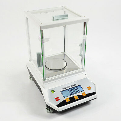 200g x 0.001 GRAM 1 MG  LAB ANALYTIC PRECISION DIGITAL SCALE BALANCE CE APPLIED