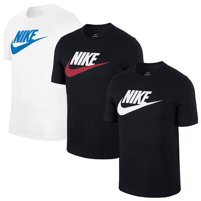 Nike Men's T Shirt Athletic Cut Cotton Short Sleeve Futura Icon Graphic Print