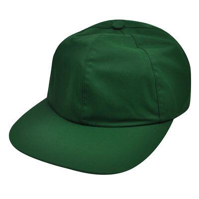 American Needle Green Nylon Hat Cap Relaxed Blank Plain Flexible Sun Buckle