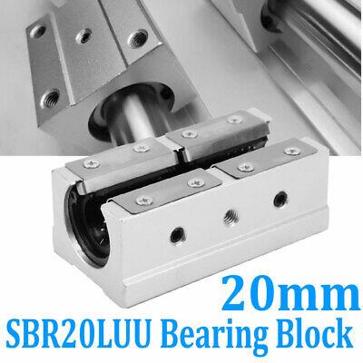 1x Sbr20uu 20mm Router Linear Motion Ball Bearing Slide Block Cnc Aluminum Alloy