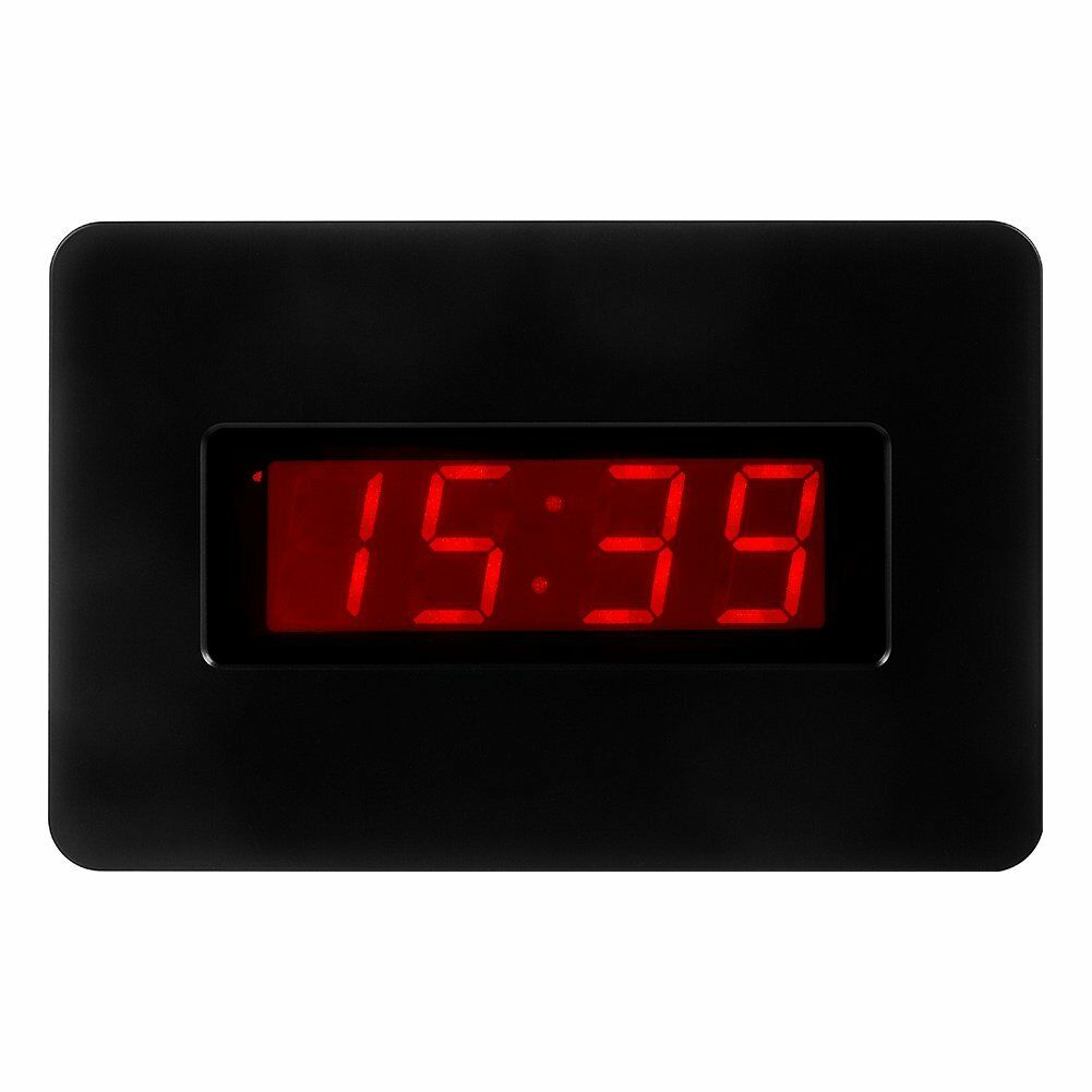 Kwanwa Digital Wall Clock Battery Operated Only with Large 1.4'' Red LED