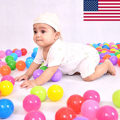 100pcs Quality Secure Baby Kid Pit Toy Swim Fun Colorful Soft Plastic Ocean -