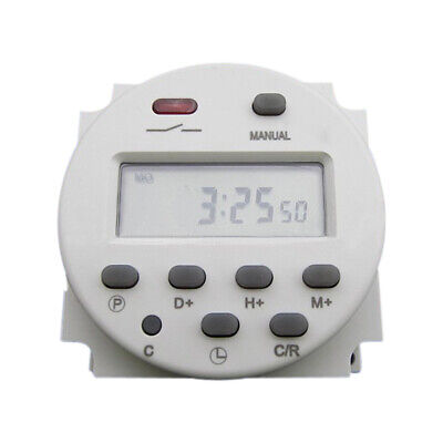 Cn101 Ac 110v Digital Lcd Power Programmable Timer Time Relay Switch 17