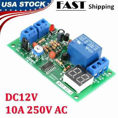 Timing Timer Delay Turn Off Relay Switch Module Led Display Countdown Dc 12v