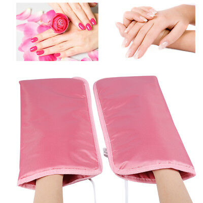 Manicure Mitts - Therapeutic Heated Wax Mittens Gloves Mitts For Paraffin Manicure Waxing Skin