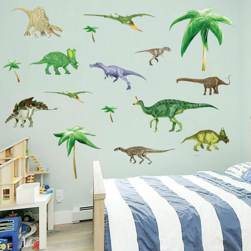 Home Decoration - Removable Wall Stickers Kids Boys Dinosaurs Bedroom Home Art Decals Decor DIY