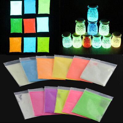 10g helles Glühen in der dunklen Umwelt fluoreszierende Pulver DIY Pigment ()