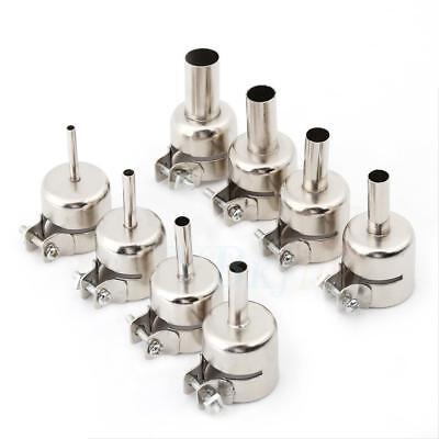 8pcs Heat Gun Nozzle Hot Air Gun Heat Resisting Nozzles Tips 3/4/5/6/7/8/10/12mm ()