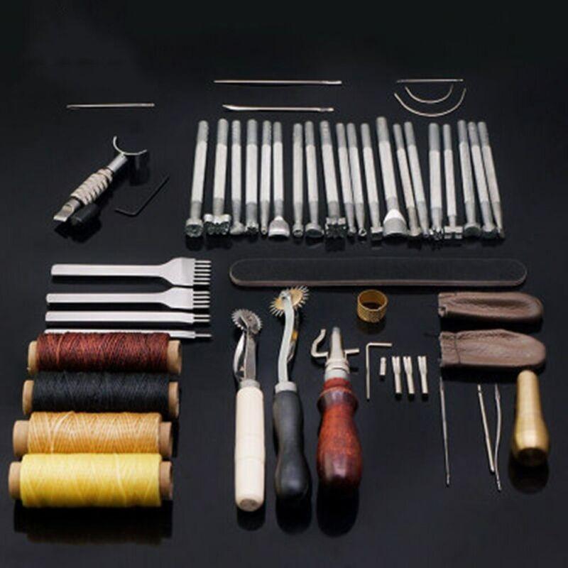 45PCS/Set DIY Leather Tool Hand Sewing Craft Carving Hand Handmade Handwork
