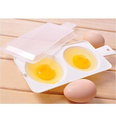 Microwave Oven Egg Poacher Cooking Cooker Steamer Poach Cookware Kitchen Tool
