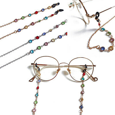Reading Glasses Chain for Sunglasses Cords Bead Eyeglass Lanyard Straps (Reading Glasses Chain Cords)