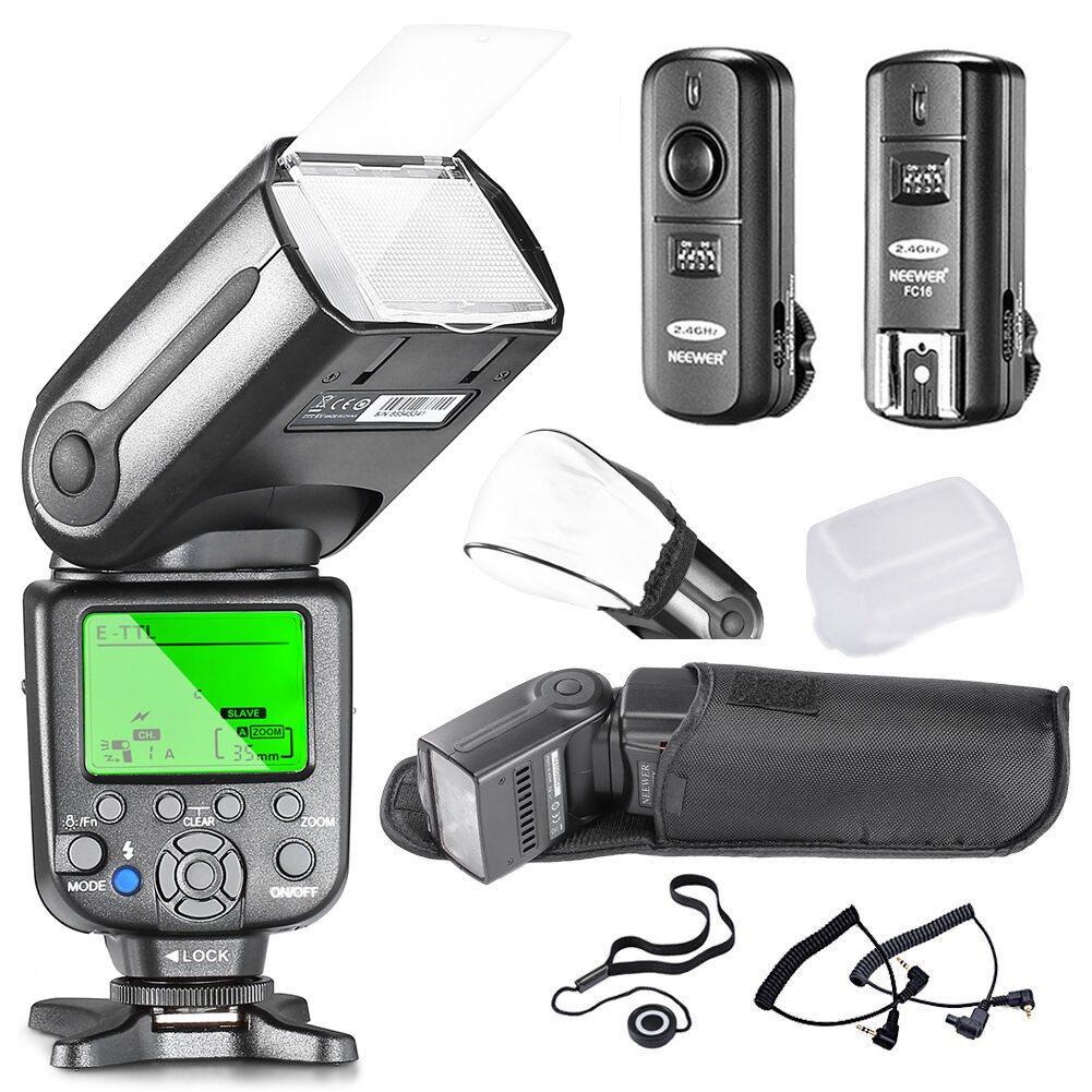 Neewer Nw-565c Professional E-ttl Slave Flash Kit For Can...