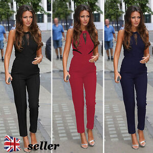 UK-Womens-Celeb-Summer-Lace-Playsuit-Evening-Party-Ladies-Long-Pants-Jumpsuit