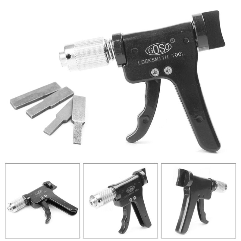 Quick Turning Craftsman Tool Gun Lock Opener Kit +4 Tips Advanced Plug Spinner