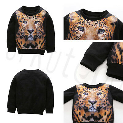 Newborn Kids Baby Boy 3D Tiger Sweatshirt Tops+Pants Autumn Outfits Clothes (Tiger Outfit Kids)