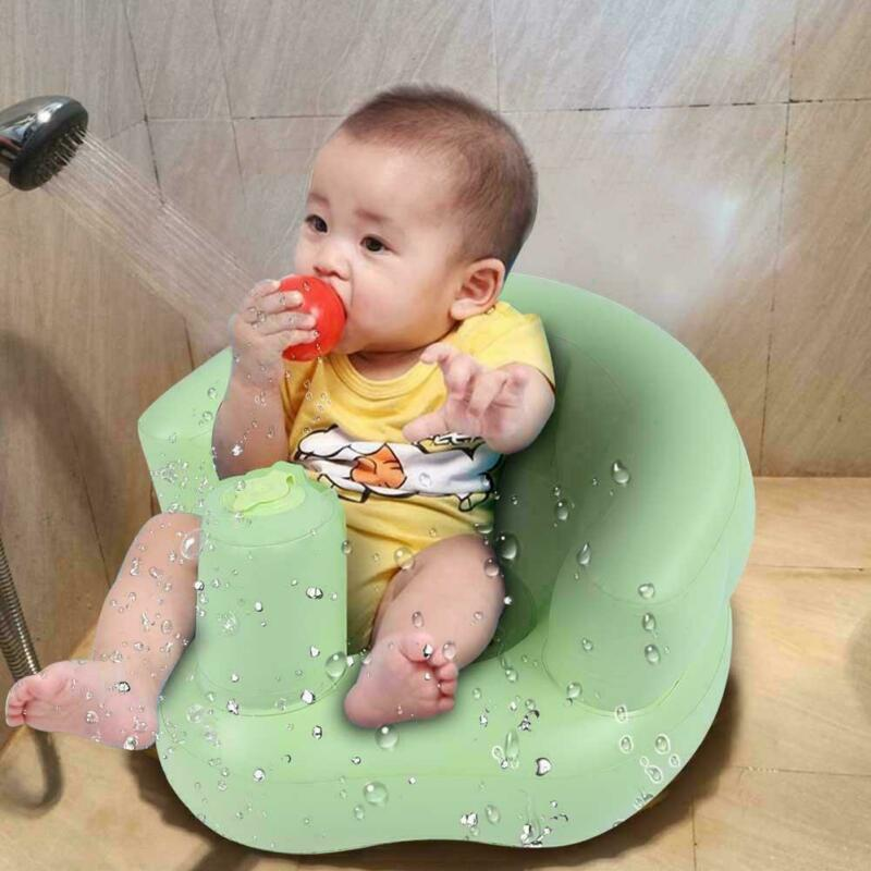 Kids Baby Bath Seat Safety Portable Sofa Pushchair Inflatable Dining Chair