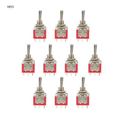 10pcs On-off-on Momentary Toggle Switch Dpdt 6-pin 6mm 2a250vac 5a120vac New