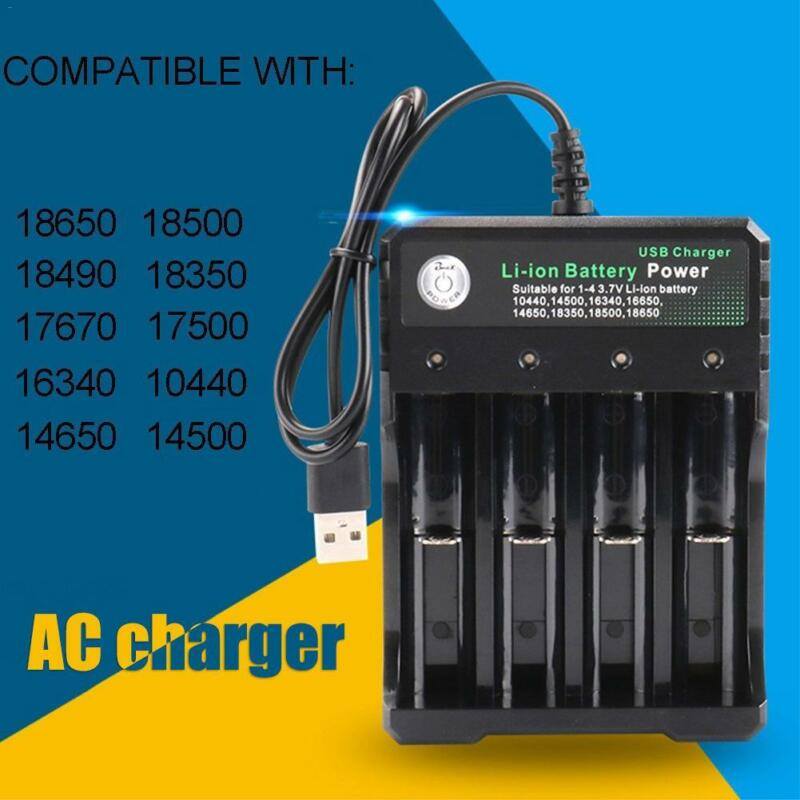 4-Slot Smart Battery Charger Ni-MH AA AAA Li-ion 26650 18650 18350 14500 16340