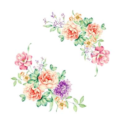 Wandtattoo Wandsticker Wandaufkleber Blumen Möbel 2teilig Neu