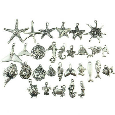 30× Beach Sea Horse Starfish Shell Snail Conch Crab Mermaid Turtle Whale - Starfish Shell