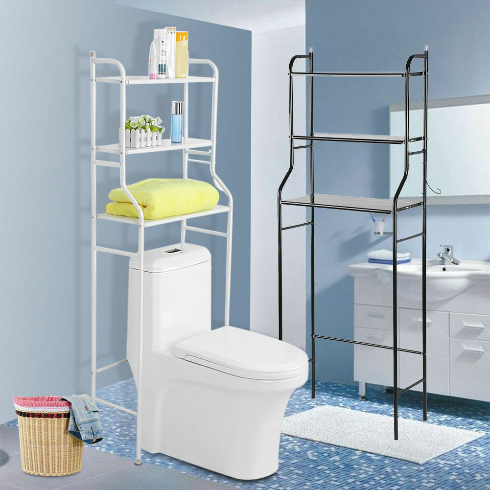 Metal Over Toilet Storage Unit Racks Bath Towel Rail Home Bathroom ...