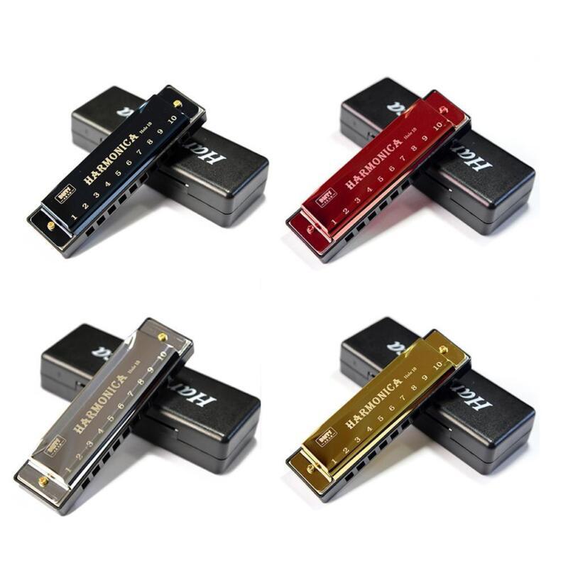4PCS 10 Holes Titanium Harmonica Musical Instrument for Kids
