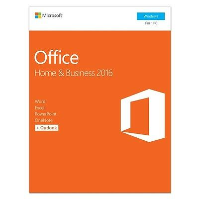 Microsoft Office Home and Business 2016 Windows English PC Key Card T5D-02776