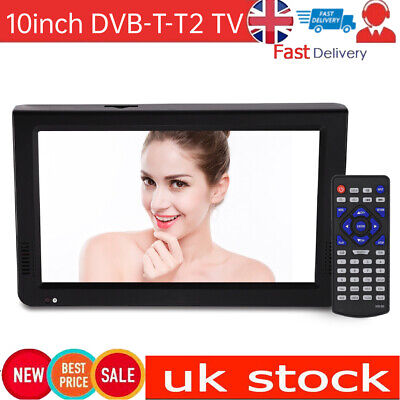 TV 10'' Freeview 1080P HDMI Portable Analog Color TV Digital Television Player