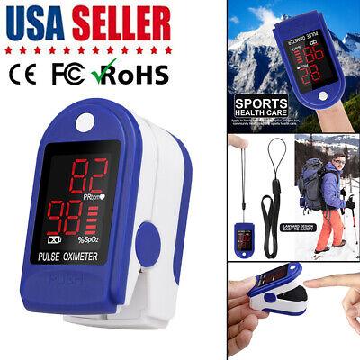 Us Finger Oximeter Blood Oxygen Saturation Spo2 Pr Meter Heart Rate Monitor Tool